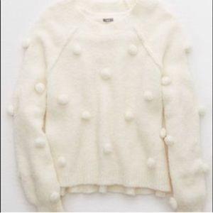NWOT Aerie Pom Pom Sweater